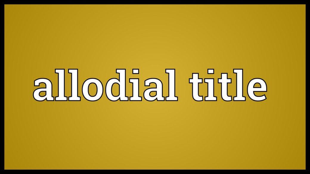 Allodial Title