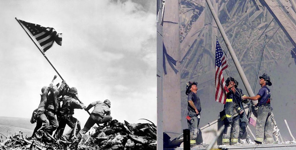 RAISING FLAG FROM RUBBLE