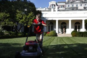 Mowing At The WH